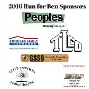 2016 Run for Ben Sponors